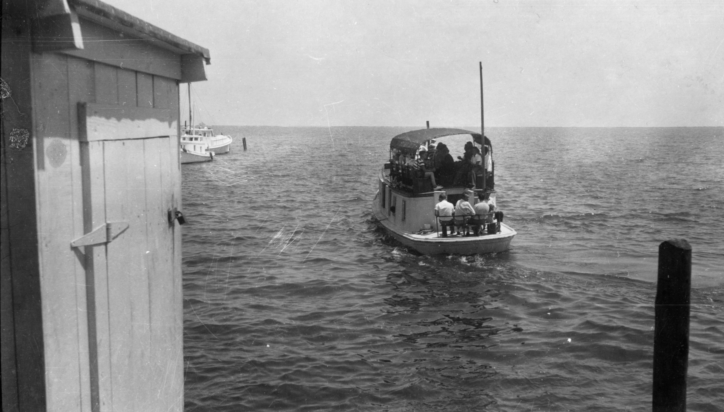 Mailboat Aleta Leaving Atlantic, 1920s