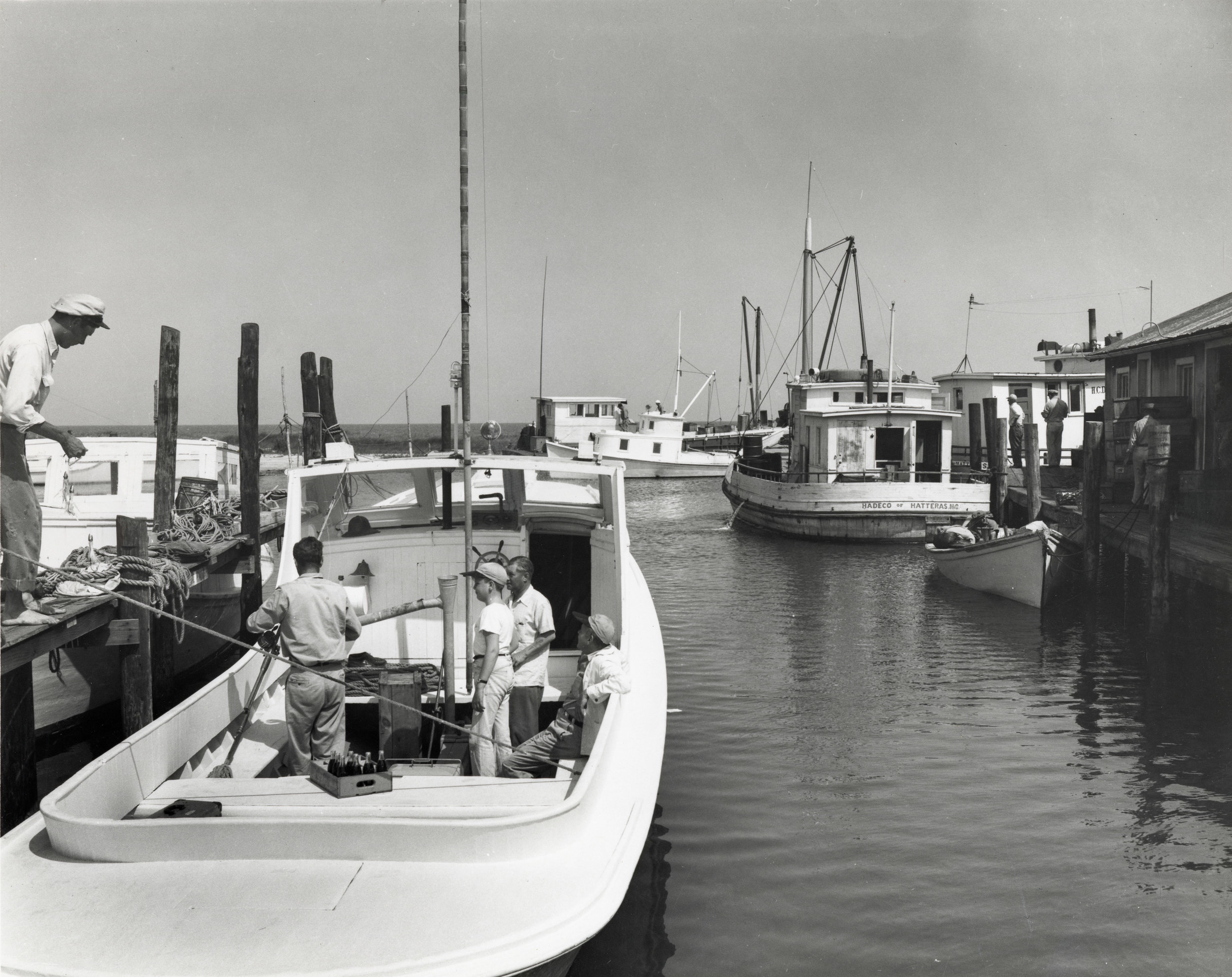 Boat Dock at Hatteras, 1948