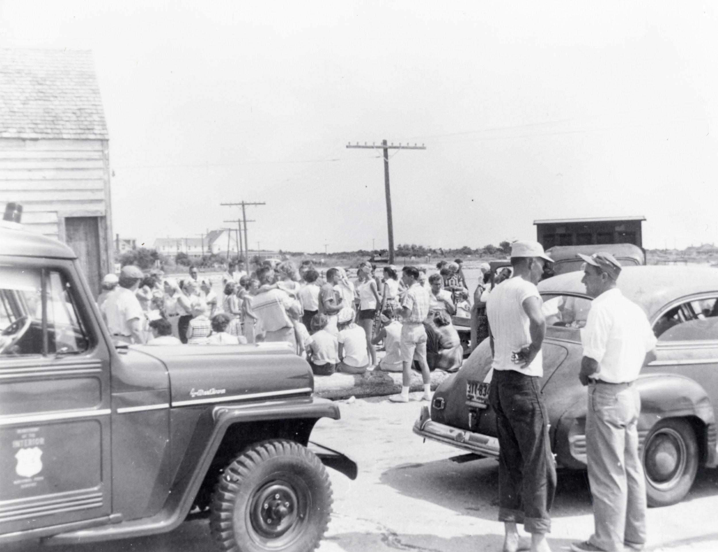 Mailboat Dock, Ocracoke, July 5, 1957