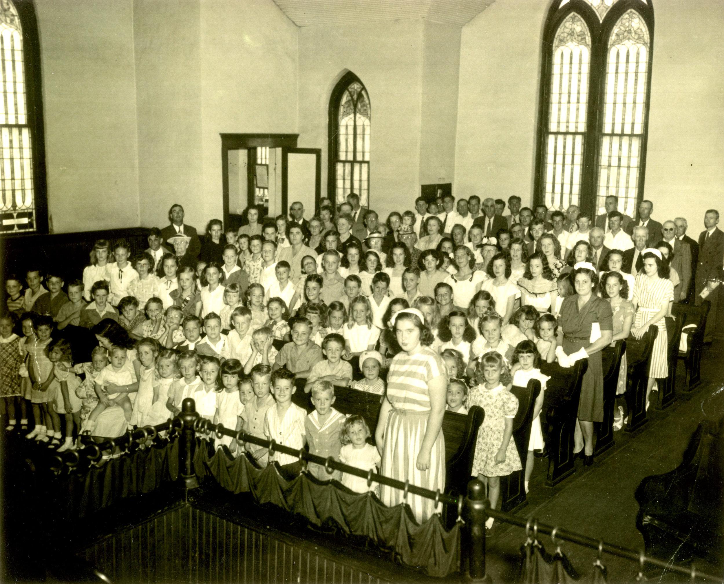 Congregation of the Franklin Memorial Methodist Church, circa 1950s
