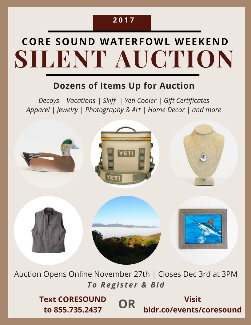 waterfowl weekend silent auction