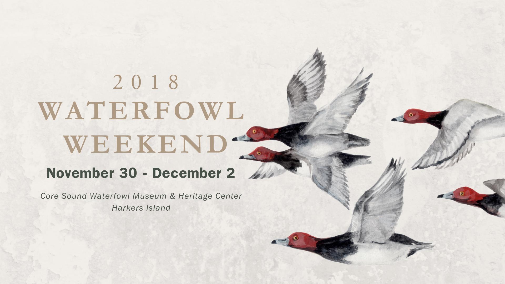 waterfowl weekend