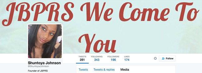 """JBPRS'  Twitter page , where they promote """"We Come to You!"""""""