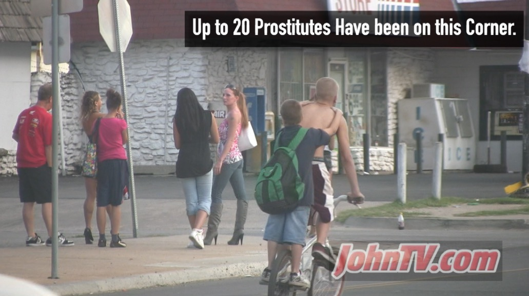 There was a time where seeing 20-30+ street prostitutes within a couple of blocks on S. Robinson was very common. Not so much since about 2012. I also try and get clips showing the proximity of this illegal behavior to children in the area.