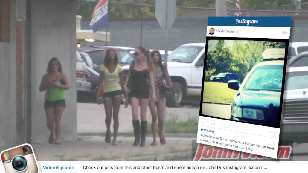 Those girls were actually running from a rival pimp that was circling the area. That Instagram pic is Judd's car as he picked up a prostitute in full view of that police car parked across the street.