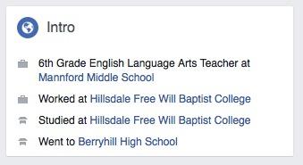 Jake Cox still lists his employment as a school teacher in Mannford, OK.