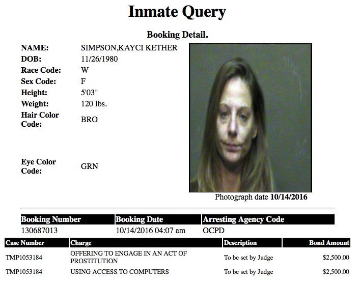 Simpson Kayci Kether Mugshot Prostitute 2016-10-14.jpg