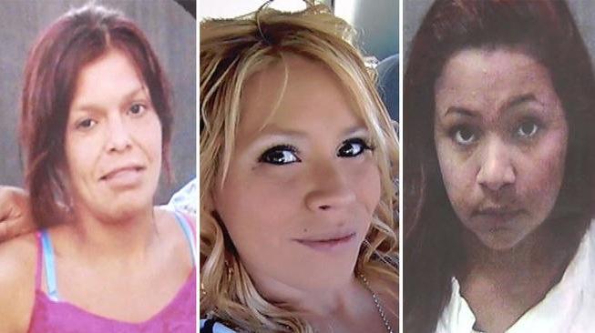 From left to right; Kianna Jackson, 20, Josephine Vargas, 34 and Martha Anaya, 28.