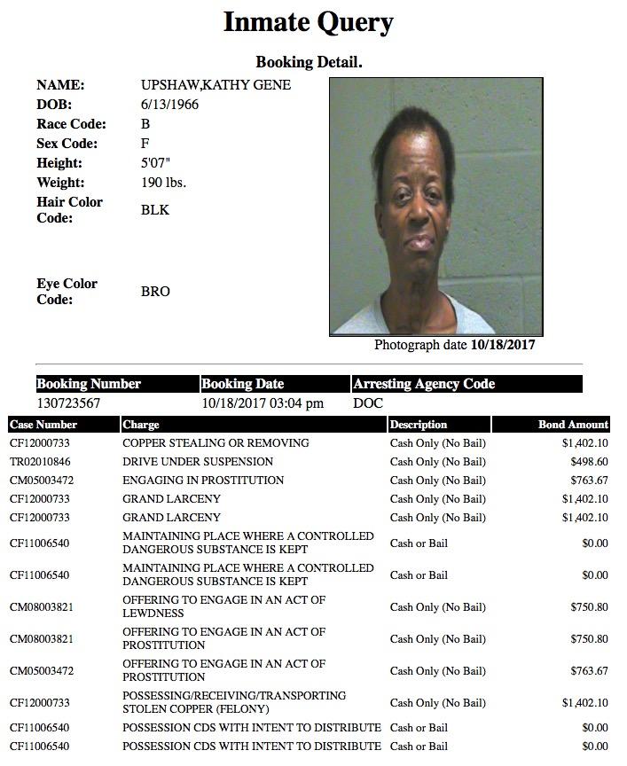 Upshaw Kathy Gene Mugshot Prostitute 2017-10-18.jpg