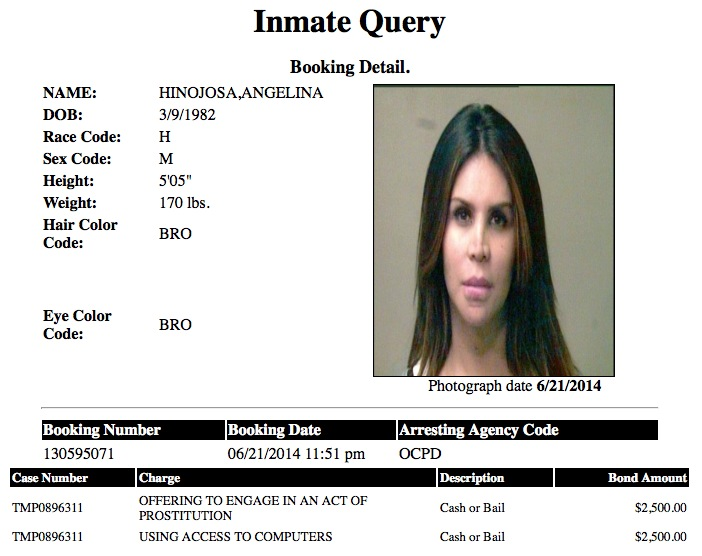 Angelina Hinojosa Mugshot Prostitute 2014-06-21.jpg
