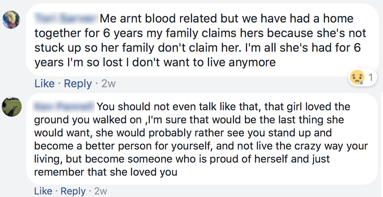As posted publicly by V.S. to her Facebook profile.