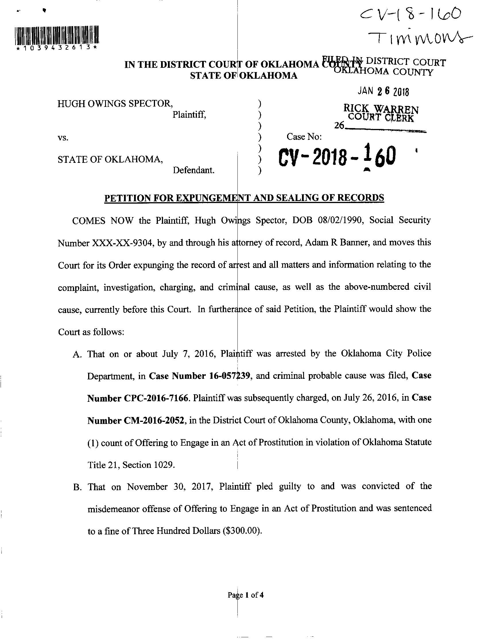 Hugh Spector Expungement Request_Page_1.jpg