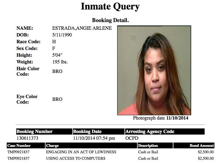 Angie Arlene Estrada Mugshot Prostitute 2014-11-10.jpg