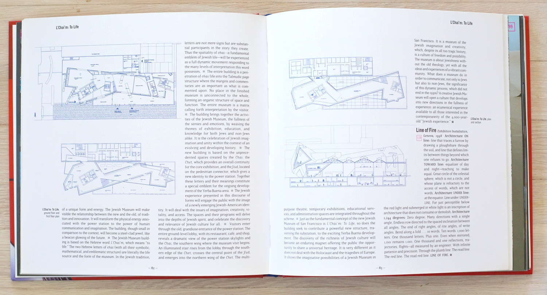 Daniel Libeskind: The Space of Encounter  by Daniel Libeskind, Jeffrey Kipnis, Anthony Vidler. Edited by Richard Olsen. Juliette Cezzar, Graphic Design. Michael Vagnetti, Production Manager. Universe Publishing.