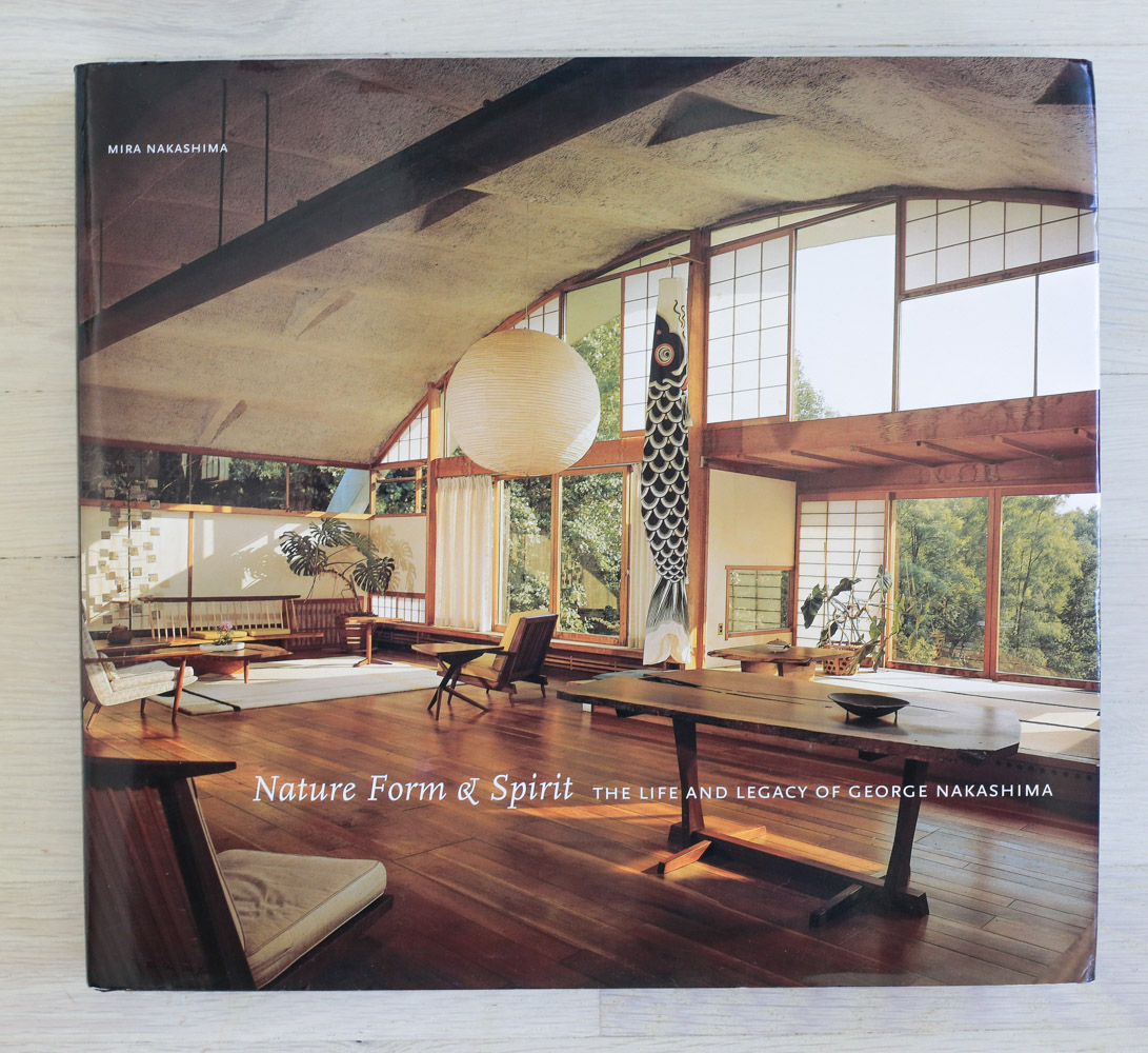 Nature, Form & Spirit: The Life and Legacy of George Nakashima  by Mira Nakashima. Acquisition and Development, Richard Olsen. Edited by Elaine Stainton, Diana Murphy, and Richard Olsen. Binocular, Graphic Design. Maria Pia Gramaglia, Production Manager. Harry N. Abrams, Inc., Publishers.
