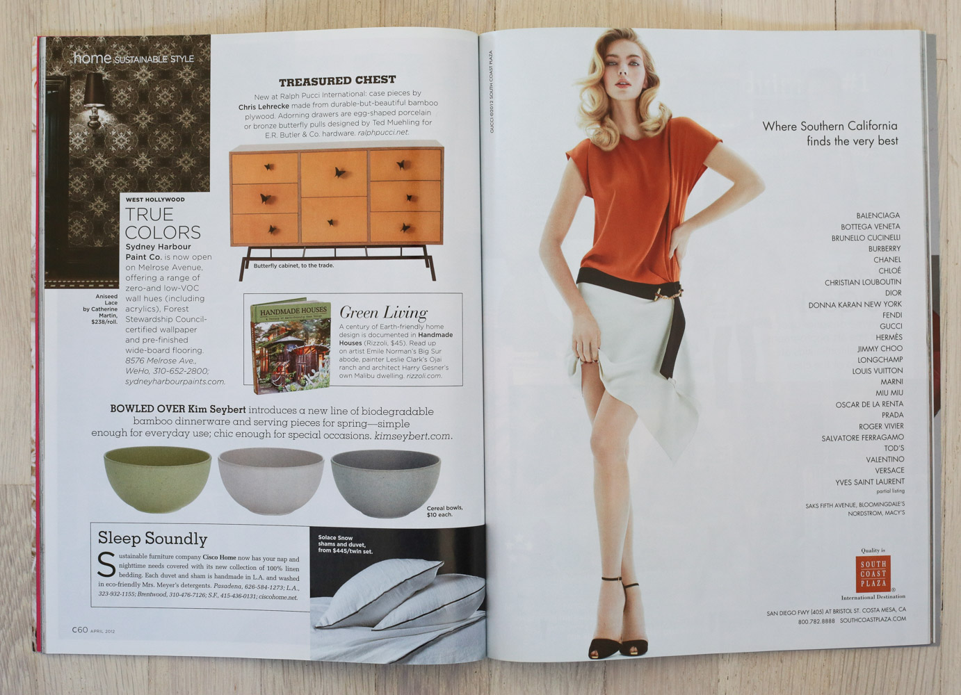Handmade Houses   in   C California Style   magazine, April 2012.