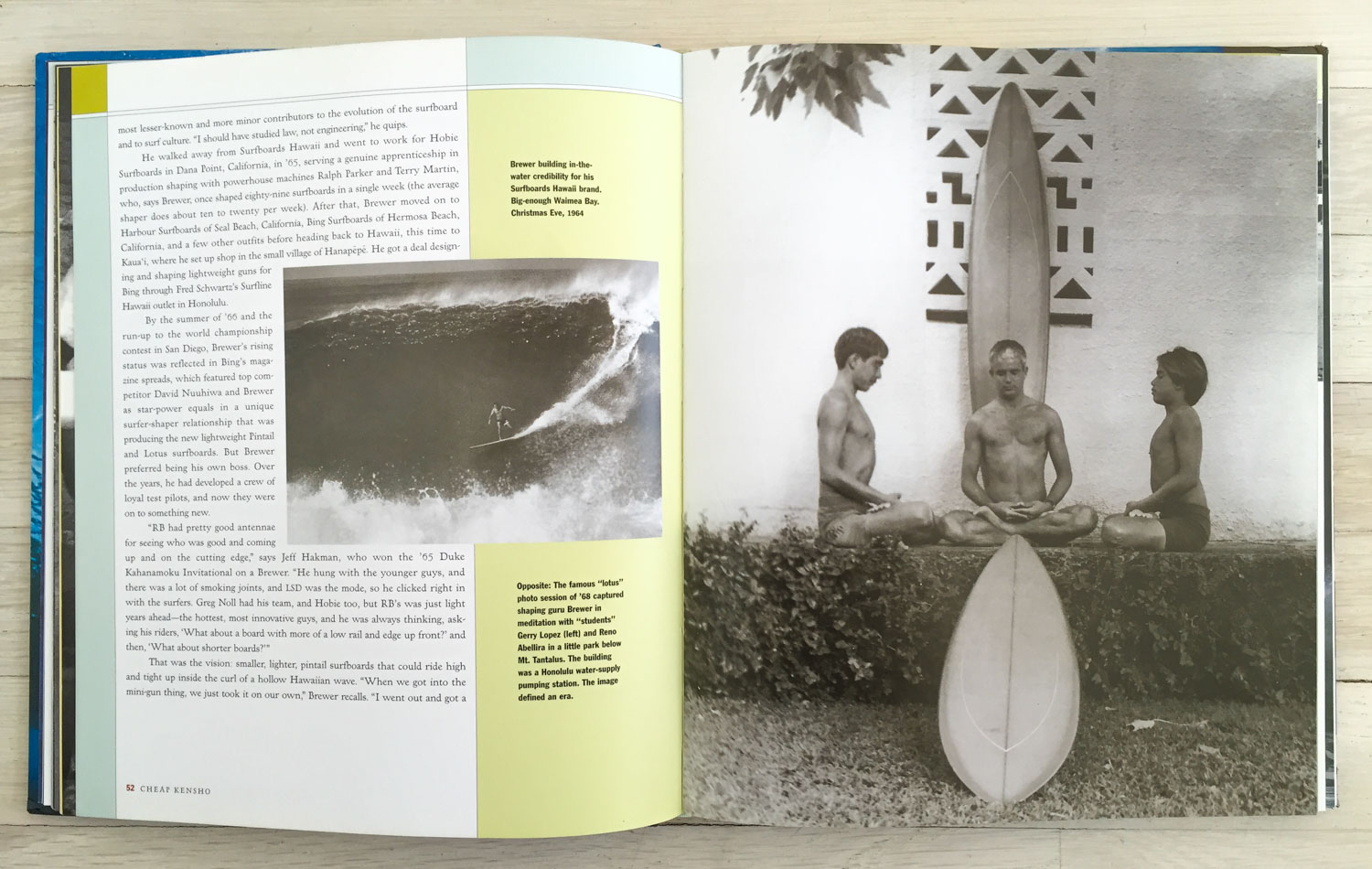 The Way of the Surfer  by Drew Kampion. Concept and Acquisition by Richard Olsen. Russell Hassell, Graphic Design. Stanley Redfern, Production Manager. Harry N. Abrams, Inc., Publishers.