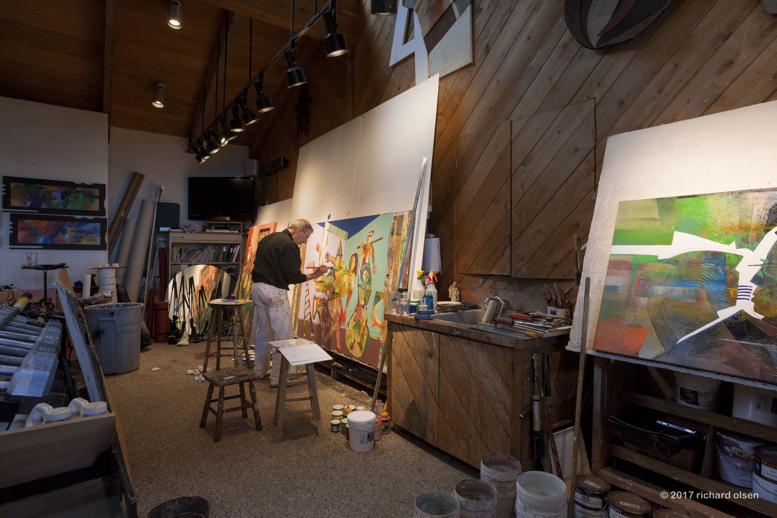 gregory hawthorne at hawthorne barn studio. big sur, ca
