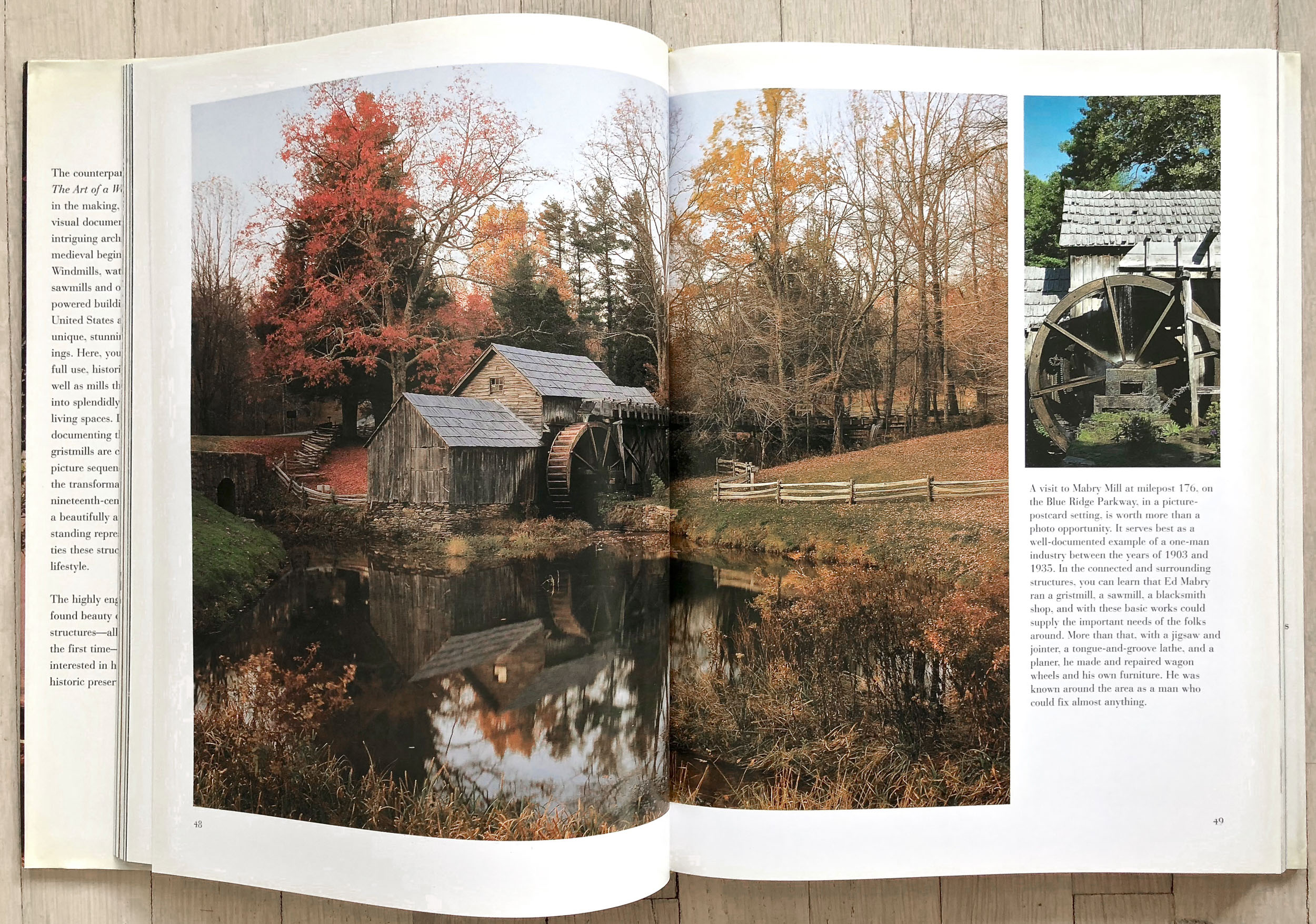 Mill: The History and Future of Naturally Powered Buildings  by David Larkin. Edited by Richard Olsen. David Larkin, Graphic Design. Belinda Hellinger, Production Manager. Universe Publishing.
