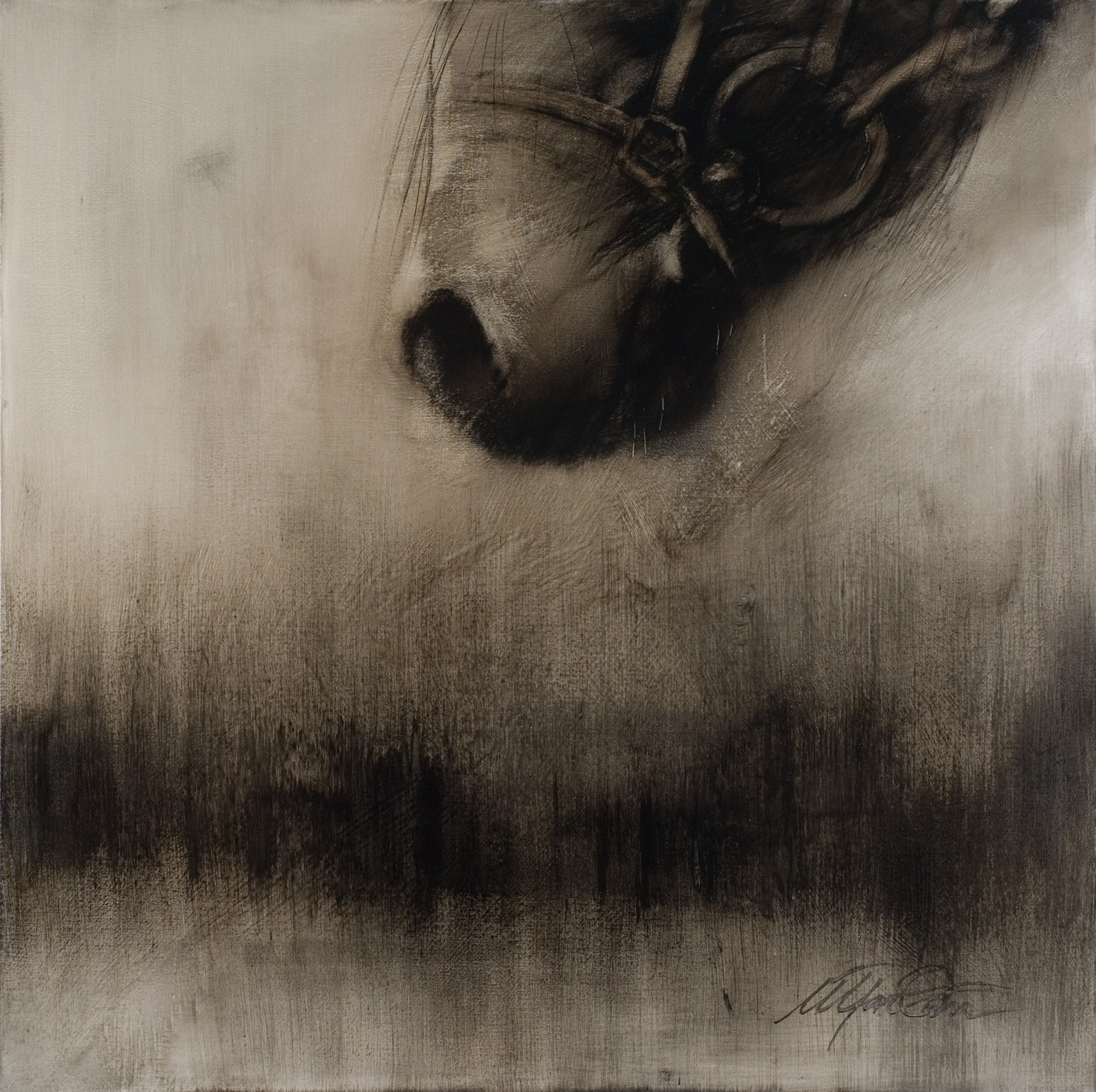 Oil on canvas 120x120 cm - private collection