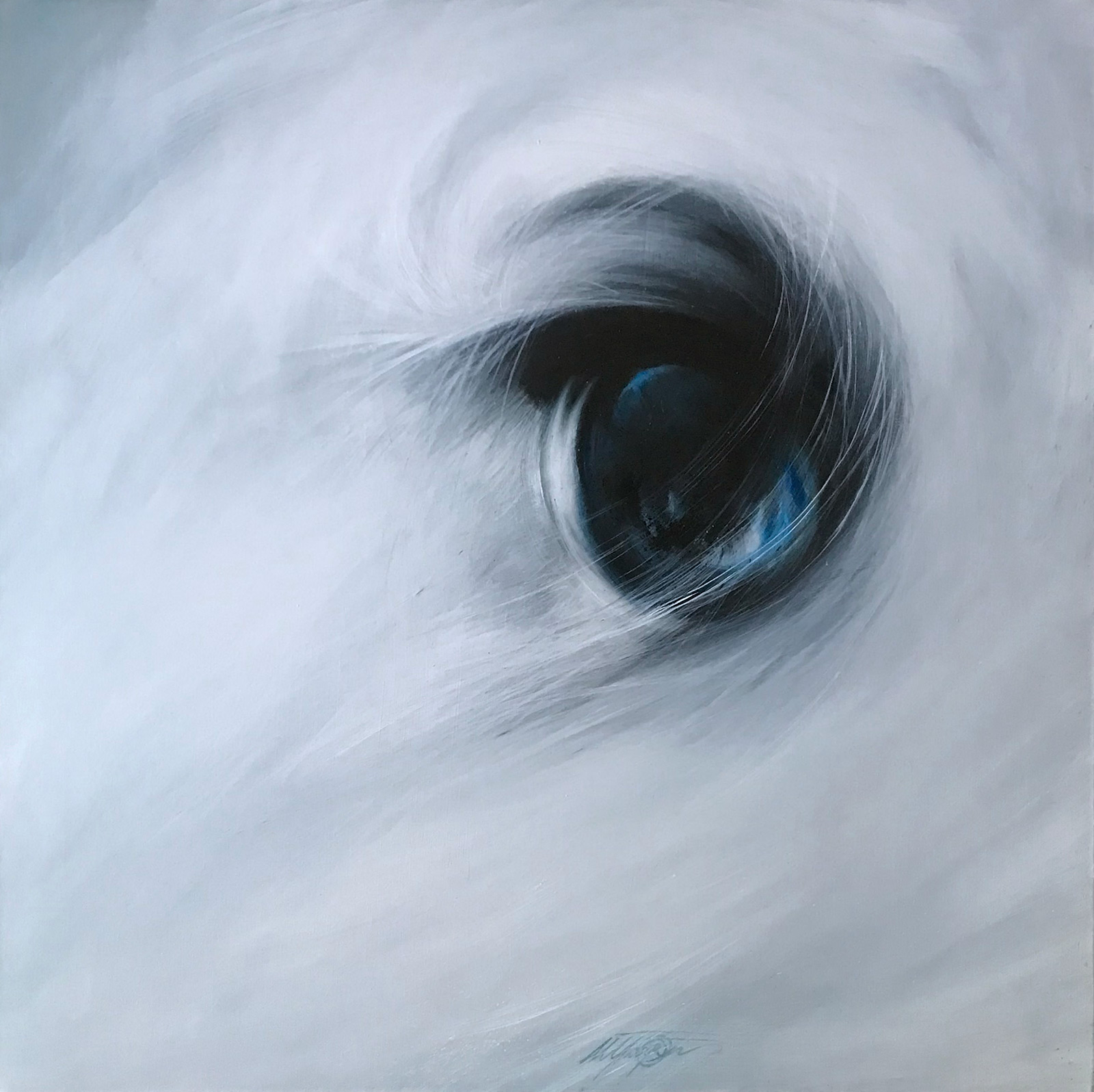 FROST - Oil on canvas 95x95 cm.