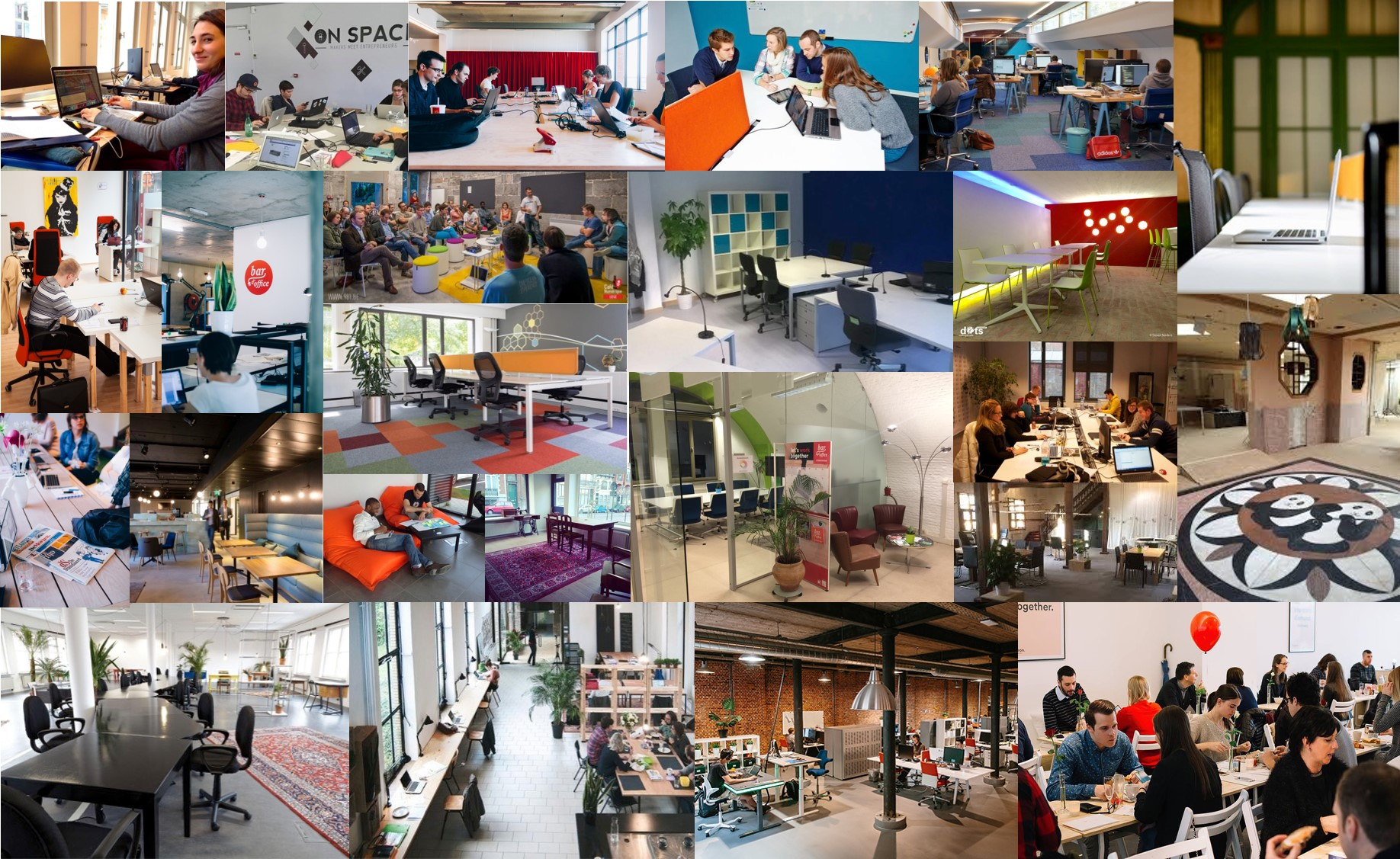 A view inside the coworking spaces throughout Belgium
