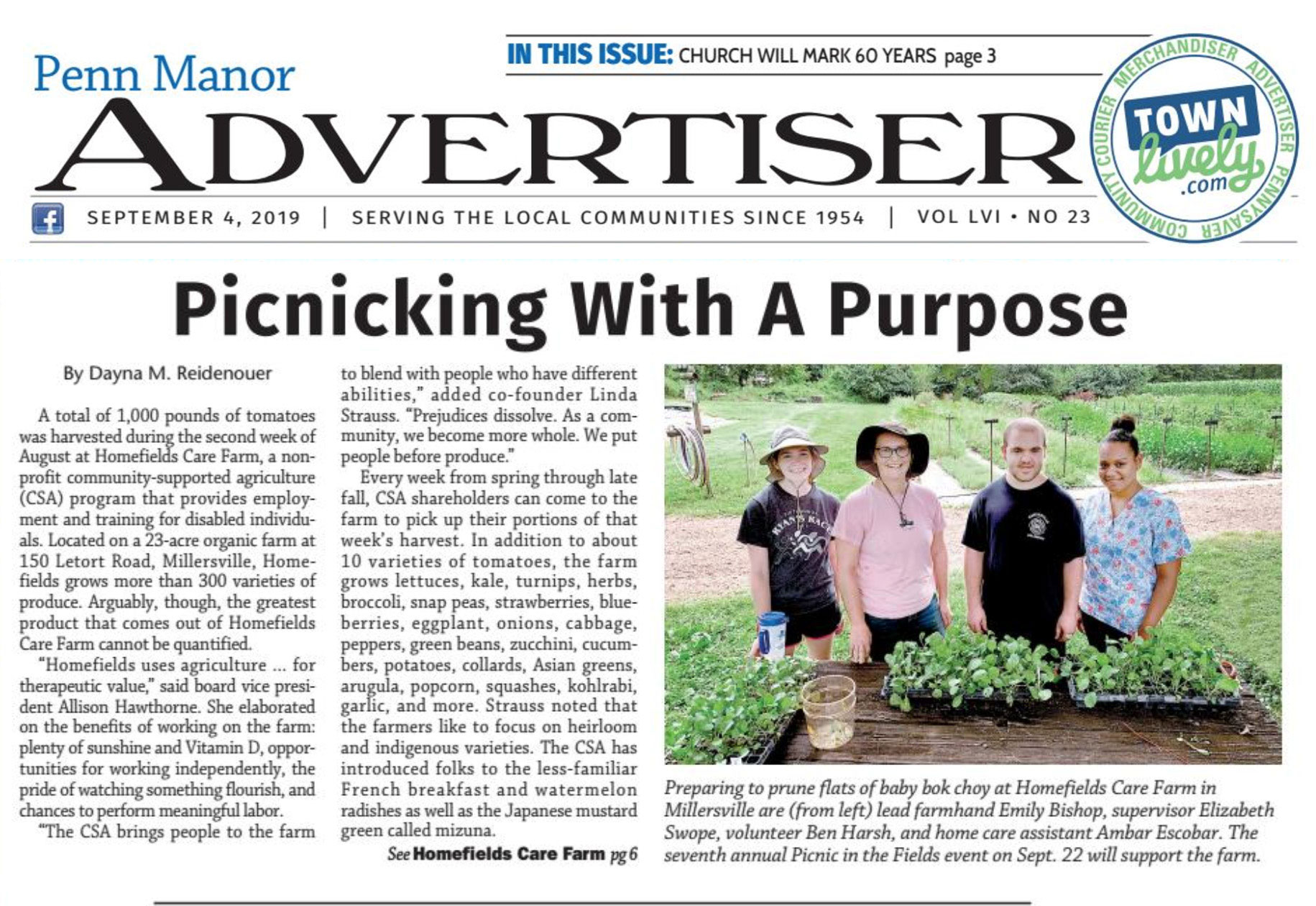 Read about us in the Penn Manor Advertiser!