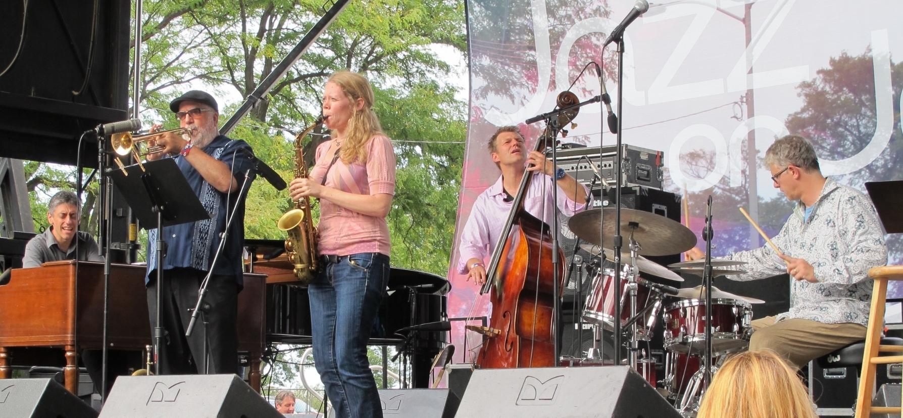 With Matt Wilson/Randy Brecker (Cheryl Fort)