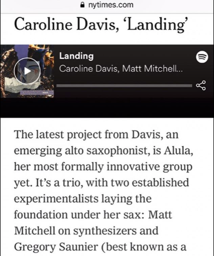 Alula NYT Playlist Feature (2019)