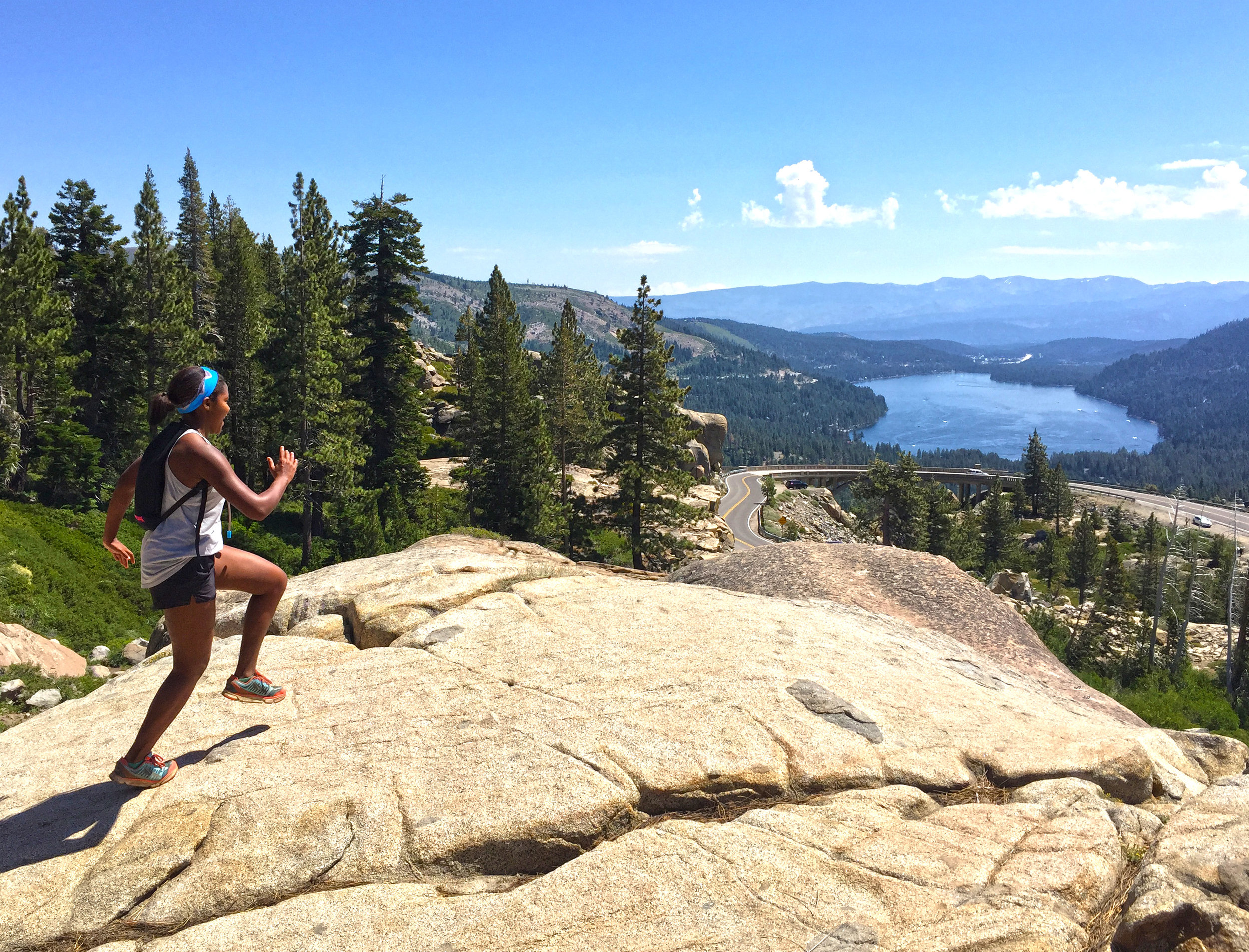 A great example of a NET downhill run in Tahoe!