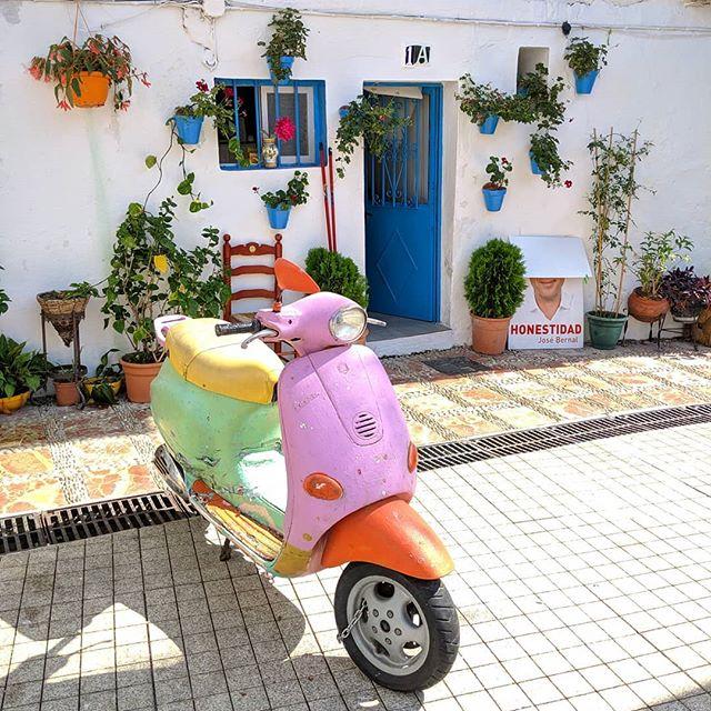Loving all of the colors, sunshine and Vespas here in Spain!  #spain #beautifuldestinations #destinationwedding #spanishwedding #espana #marbella #wedding #traveller #travel #colorful #love #thatsdarling #weddingplanner