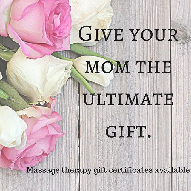From now until Mother's Day get $15 off massage gift cards for that special lady!  Don't forget to show how much you appreciate all the long nights your mama stayed up in those early years.  e-gift cards available online at nurturingkneadsllc.com  Code: MAMA for exclusive $15 off