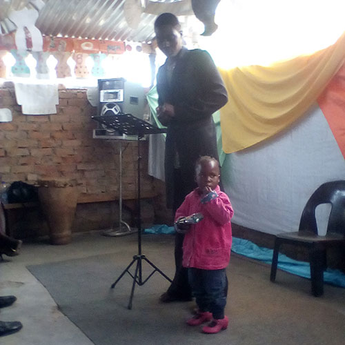Tatenda, who is 4 and a half years old was healed of and now is walking.