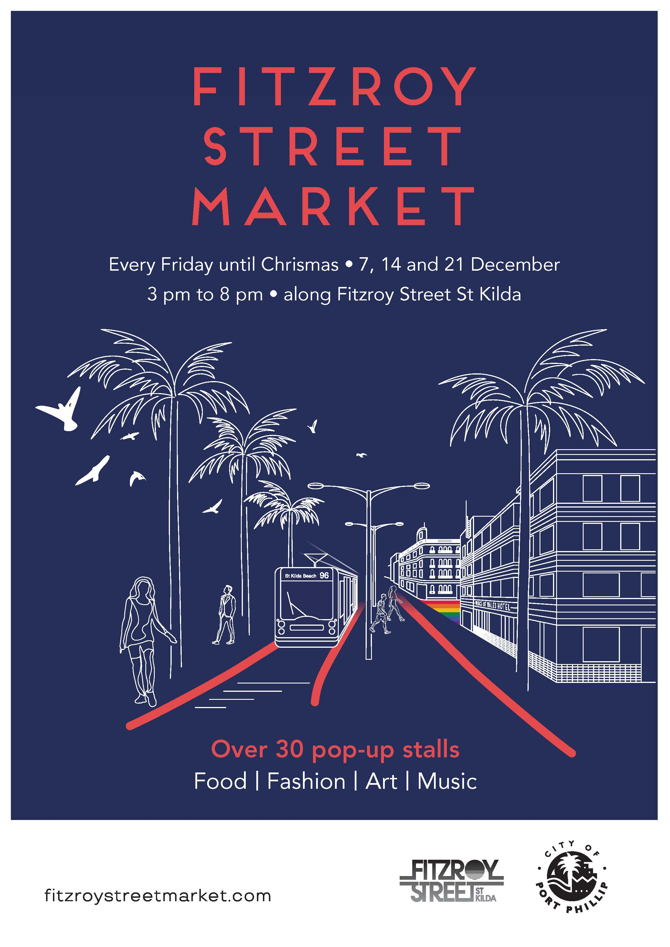 We will be part of the Fitzory Street Market in St Kilda on 7th & 14th December! This will be our last market of the year :) See you in 2019!