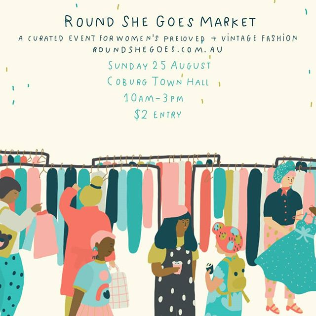 *MARKET*It has been a while since our last market and I am so excited to be part of next Sunday's @roundshegoes market @coburgtownhall! There will be heaps of vintage fashion there and you can mix and match them with our handcrafted delicate porcelain jewellery💗  I will be there from 10am-3pm. There will also be some sale pieces and one-off experimental pieces with me! ~ entry is $2~ See you there!🤗