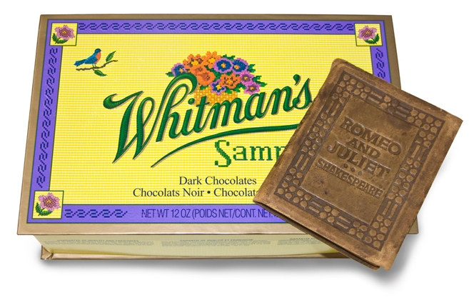 Buy Whitman Chocolates to get a leather-bound Shakespeare play!