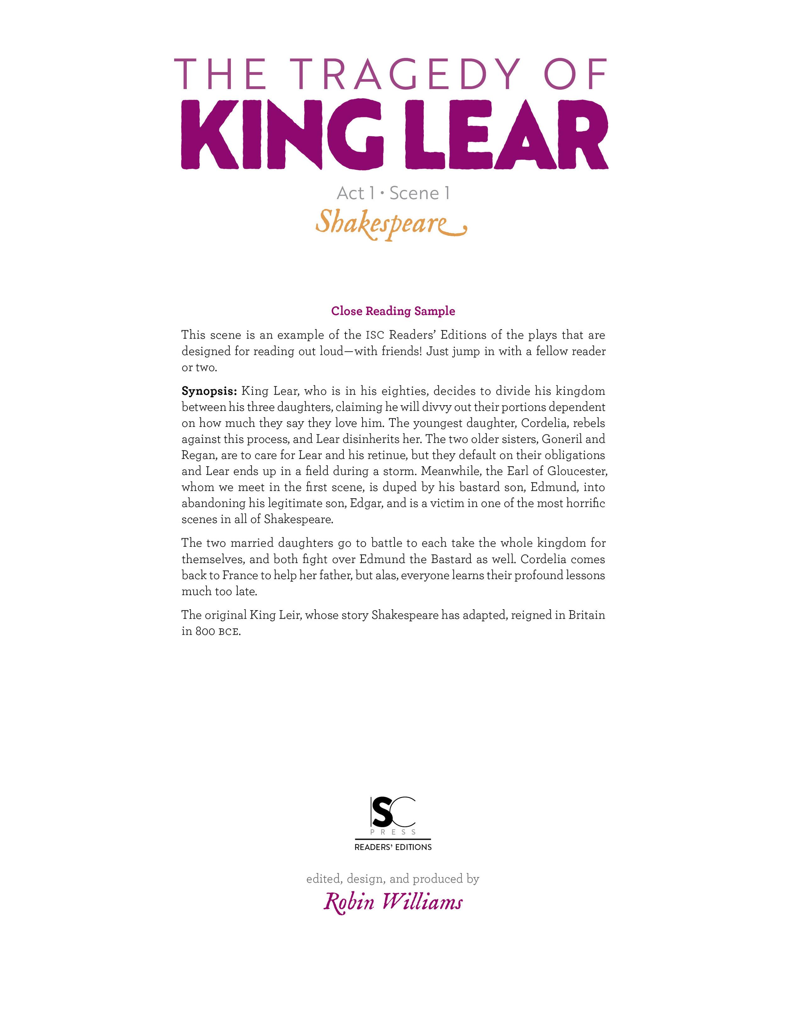 King Lear • Readers' Edition • iReadShakespeare.org