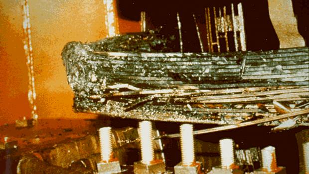Transformer Damage.   Credit: Image courtesy of NOAA.