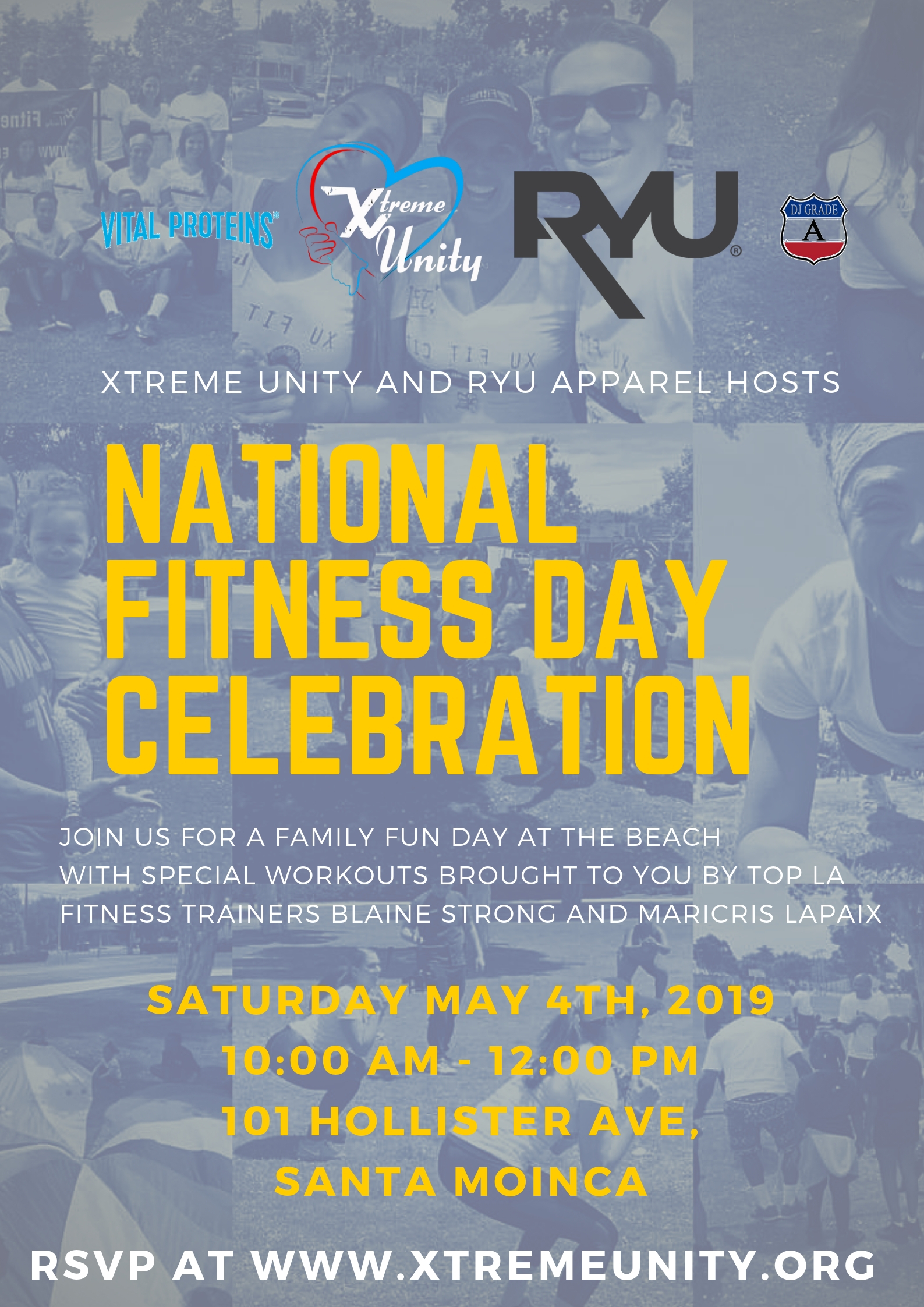 National Fitness Day Celebration - Saturday May 4th, 2019