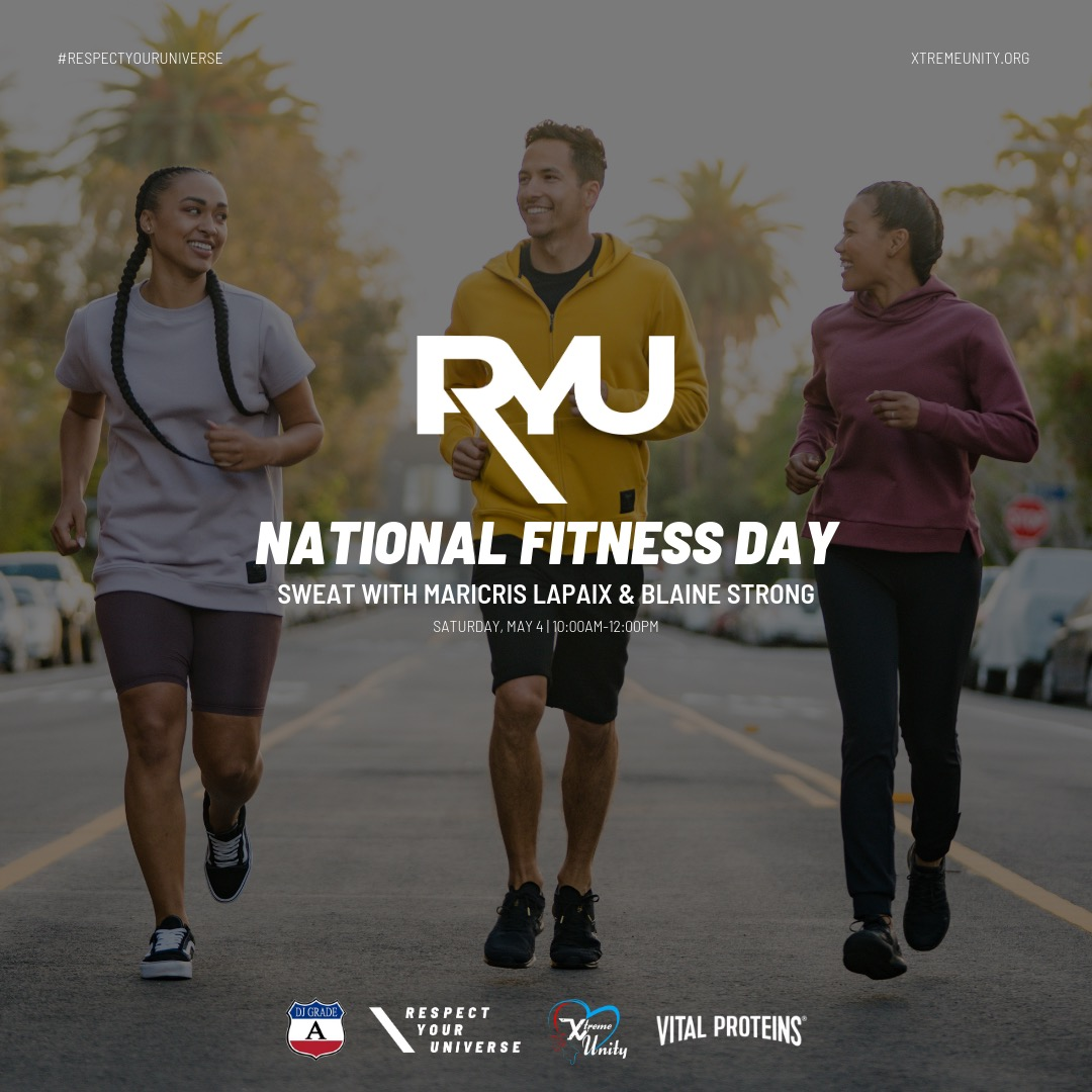 Xtreme Unity + RYU - Xtreme Unity partners with RYU Apparel with an all star team of Influencers, Blaine Strong and Maricris Lapaix for National Fitness Day