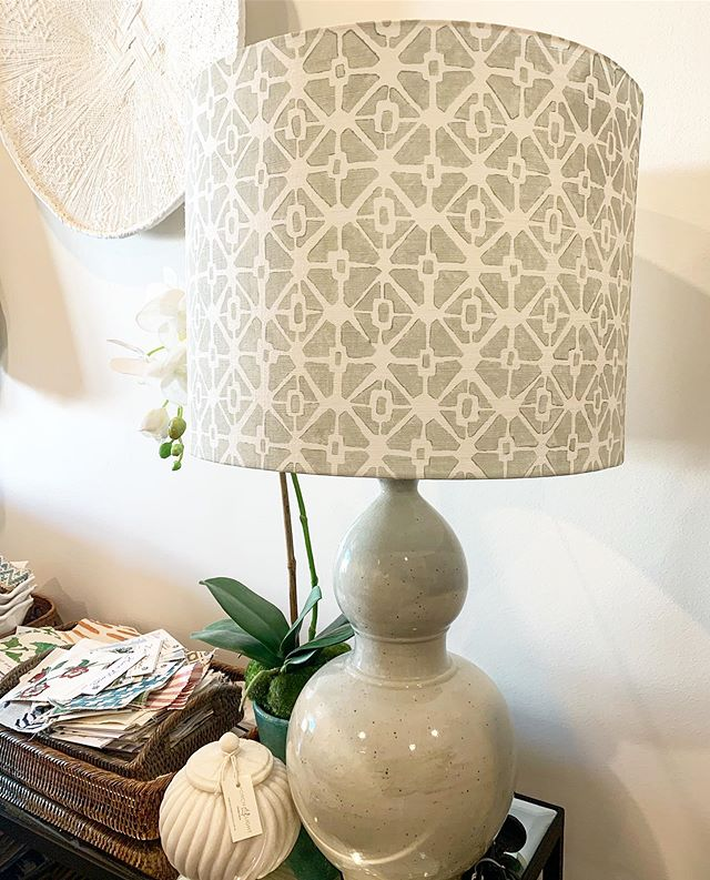 Favourite lamp in the showroom this week #customlampshade #designshowroom #porchlightinteriors #brisbaneinteriordesigner #interiordesignerbrisbane