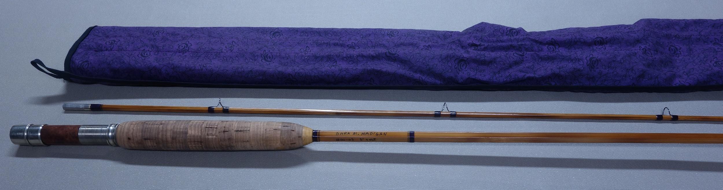 Naturally, Dara's rod has purple wraps and a purple bag.