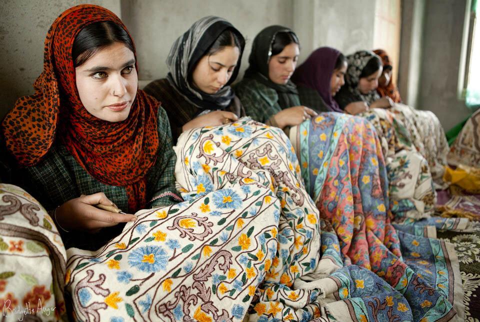 Hand embroidery shawls in Kashmir.jpg