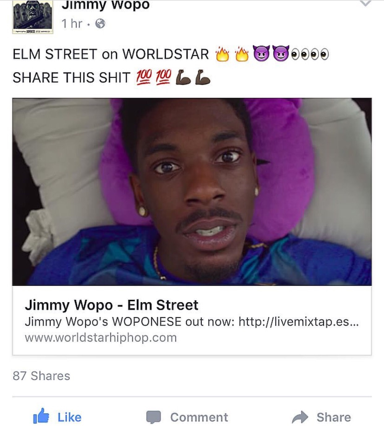 "Check ""Elm Street"" out on Worldstar by clicking this link - http://www.worldstarhiphop.com/videos/video.php?v=wshhqqat9VjUSYYe871b   ."