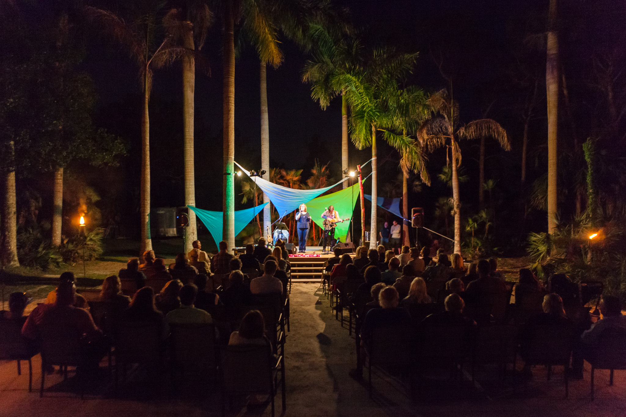 March 24th, 2018 was another incredible  Evening of Music and Vegetables  at the farm, featuring New York based singer/songwriter,  Sloan Wainwright . It was also the perfect opportunity to raise money for our local Slow Food chapter,  Slow Food Gold and Treasure Coast . Our new event platform was christened well! Photo by  Matthew Stover .
