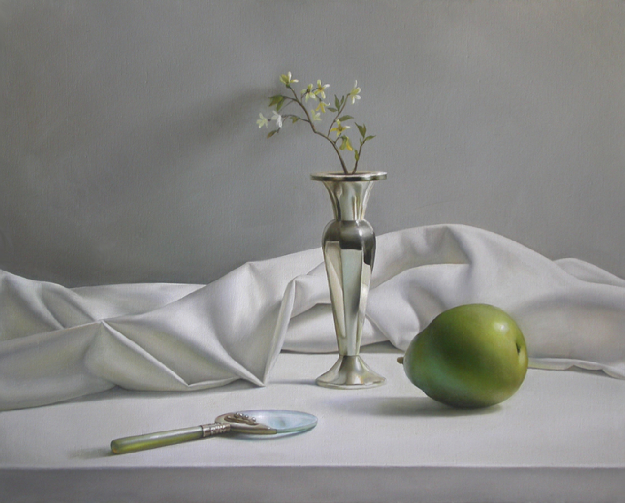 Pear & Silver Vase