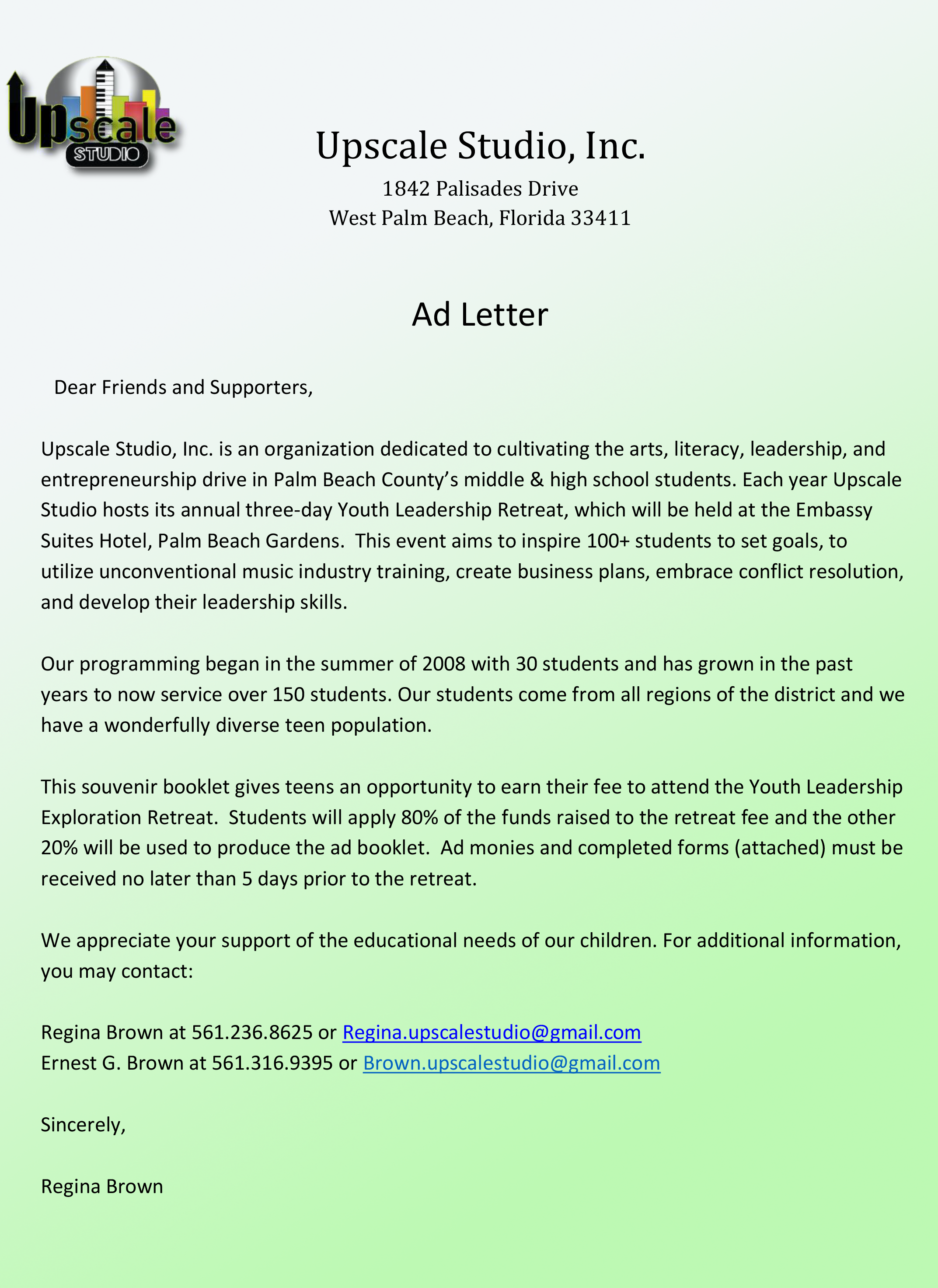 Youth Leadership Exploration Retreat Advertisement Letter Form (1)