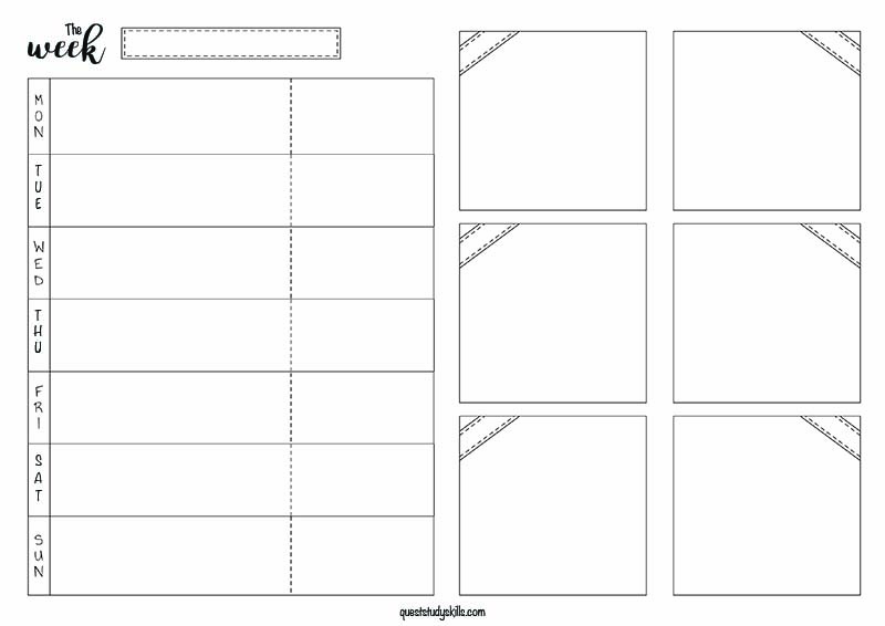 Printable for the week. You can put homework and events on the left side, and projects and their tasks on the right. Or do what makes sense to you.