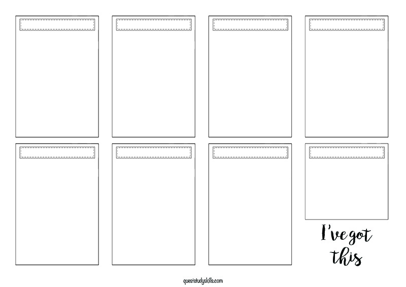 A flexible printable option which can be used for dailies of the week or even projects.