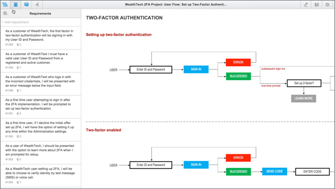 In this webinar screenshot Mike Hughes is showing some examples of the interactive diagrams you can build in iRise.